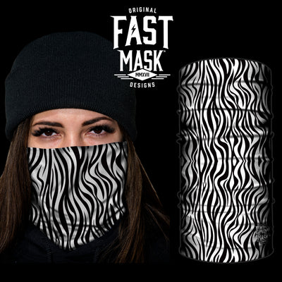 Zebra Fast Mask- *Now with Sewn Edges* - Fast Mask