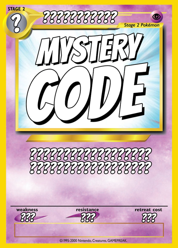 **MYSTERY** Surprise Code