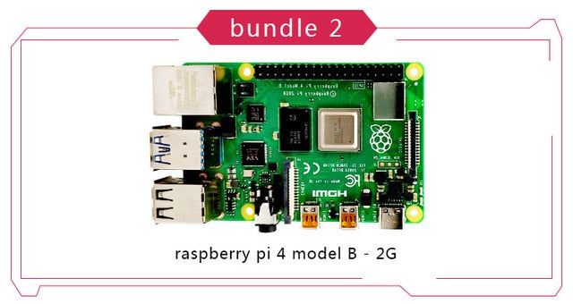 Official Original Raspberry Pi 4 Model B Development Board Kit RAM 2G 4G 8G 4 Core CPU 1.5Ghz 3 Speeder Than Pi 3B+