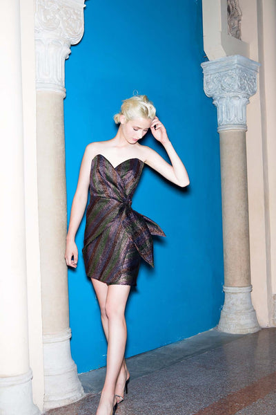 Minidress Nero Riga Metal