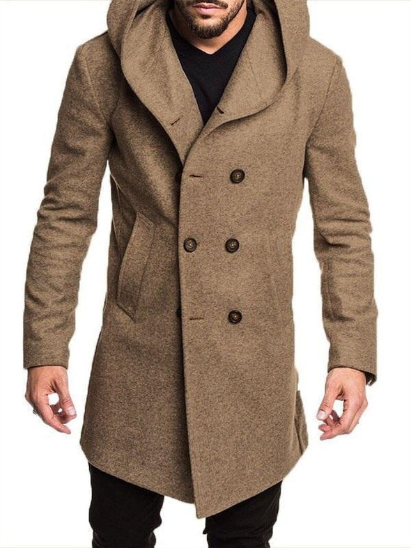 Bavero Thick Colore Puro Europeo Slim Fit Cappotto