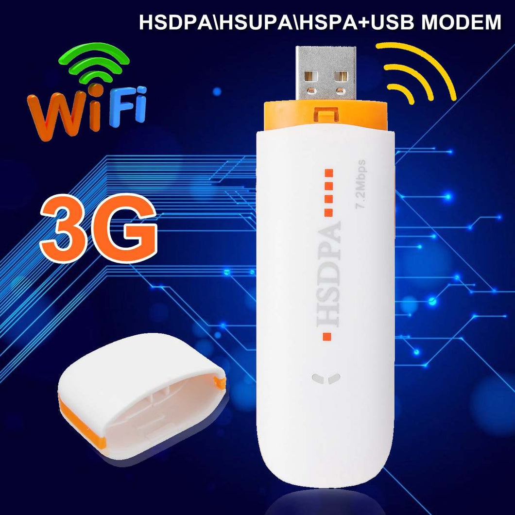 Mini USB Modem HSDPA\HSUPA\HSPA+USB Dongle STICK SIM Modem 7.2Mbps 3G/4G Wireless Network Adapter with TF SIM Card