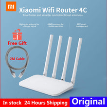 Load image into Gallery viewer, Original Xiaomi Mi WIFI Router 4C 64 RAM 300Mbps 2.4G 802.11 b/g/n 4 Antennas Band Wireless Routers WiFi Repeater APP Control