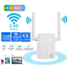 Load image into Gallery viewer, 300Mbps Wireless WIFI Router WiFi  Wi Fi Amplifier Long Range Home Network 802.11b/g/n Wi Fi Signal Repeater