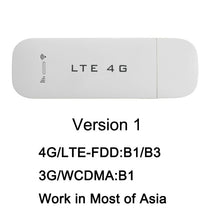 Load image into Gallery viewer, TianJie 4G 3G USB Wifi Router 4G FDD Car 100Mbps USB Modem Mini Stick Date Card Mobile Hotspot Wireless WI-FI Dongle