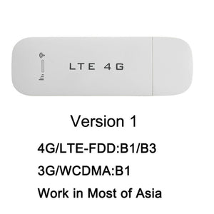 TianJie 4G 3G USB Wifi Router 4G FDD Car 100Mbps USB Modem Mini Stick Date Card Mobile Hotspot Wireless WI-FI Dongle