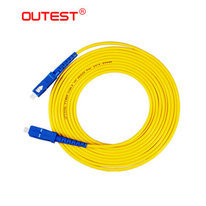 OUTEST SC to SC Fiber Patch Cord Jumper Cable SM Simplex Single Mode Optic for Network 3m