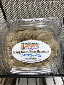 Sweet Potato Hummus-Spicy Black Bean (8 oz w/crackers)
