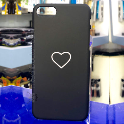 Black heart Case iPhone 8-7 - HitechDoctor.com