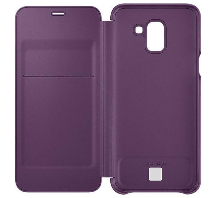 Samsung J6 Wallet Cover Purple - HitechDoctor.com