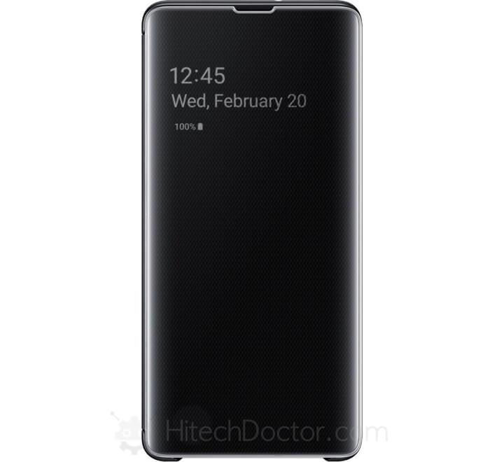 Samsung S-View Flip Cover Black (Galaxy S10+) Black