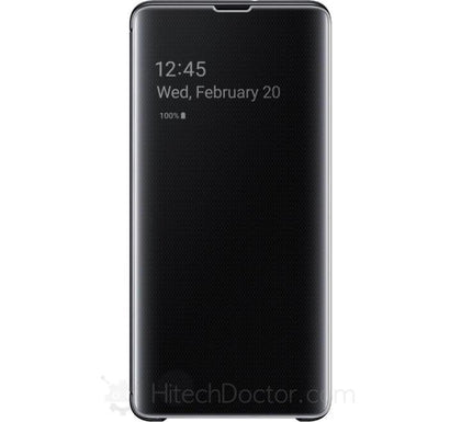 Samsung S-View Flip Cover Black (Galaxy S10+) Black - HitechDoctor.com