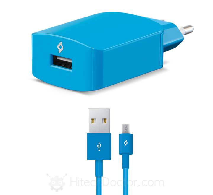 SpeedCharger Travel 2.1A Incl. Micro USB Cable Blue - HitechDoctor.com
