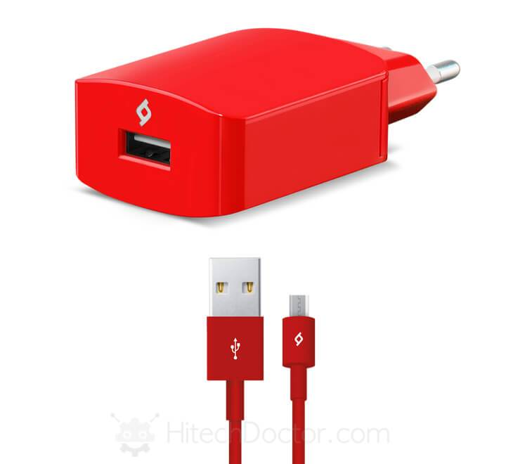 SpeedCharger Travel 2.1A Incl. Micro USB Cable Red