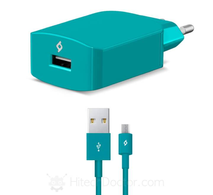 SpeedCharger Travel 2.1A Incl. Micro USB Cable Turquoise - HitechDoctor.com