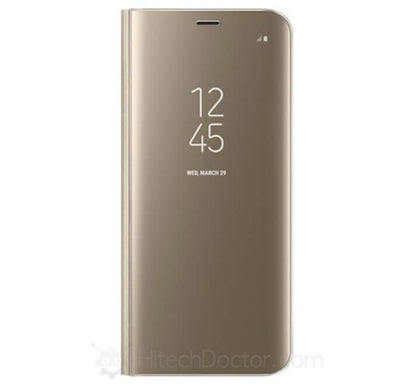 Θήκη Clear View Gold Samsung J6 Plus - HitechDoctor.com