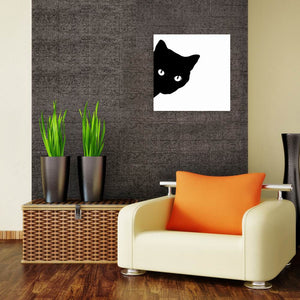 W031 Black Cat Unframed Art Wall Canvas Prints for Home Decoration
