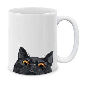 Silver Point Ragdoll Cat White Ceramic Coffee Mug Tea Cup for Cat Lover