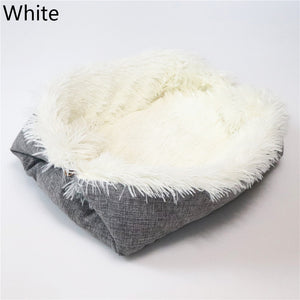 Removable Cat Sleeping Bag Sofas Mat Hamburger Dog House Short Plush Small Pet Bed Warm Puppy Kennel Nest Cushion Pet Products