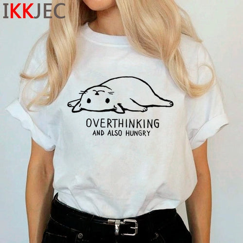 Overthinking and Also Hungry Cat Tee