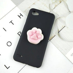 Squishy 3D Toys Phone Cat Case For LG Q8 Q7 2018 Q6 Plus G6 G5 G4 Stylus G3 mini Stylo 4 Panda Cover Funny Foot Soft Cases