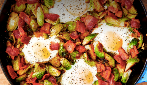 keto brussels sprouts hash