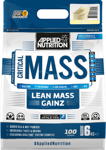 Applied Nutrition - Critical Mass -  Lean Weight Gainer - Vanille  - 6000gram