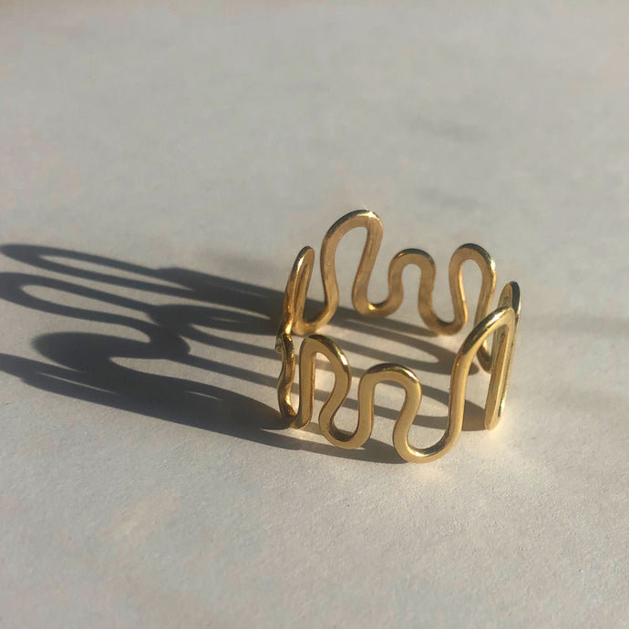 Solid 9ct Gold Brainwave Ring
