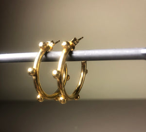 18ct Gold Vermeil 'bubble' Hoops