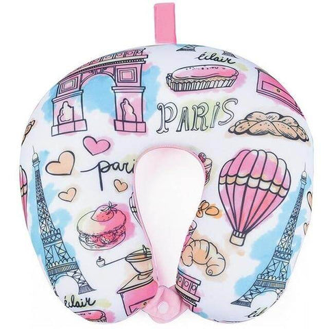 "Coussin cervical ""I Love Paris"" 