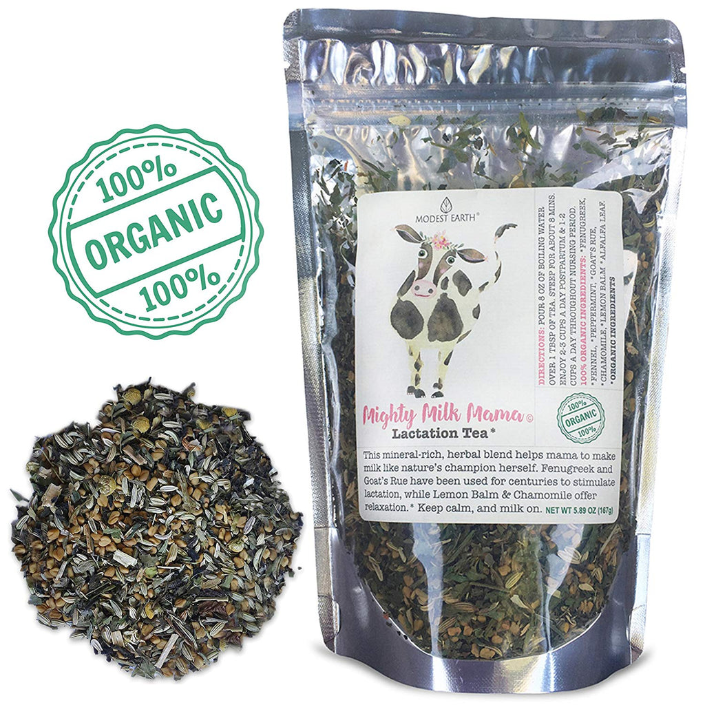 Mighty Milk Mama Tea – Lactation & Breastmilk Booster - Fenugreek/Goat Rue Organic Loose Leaf Blend