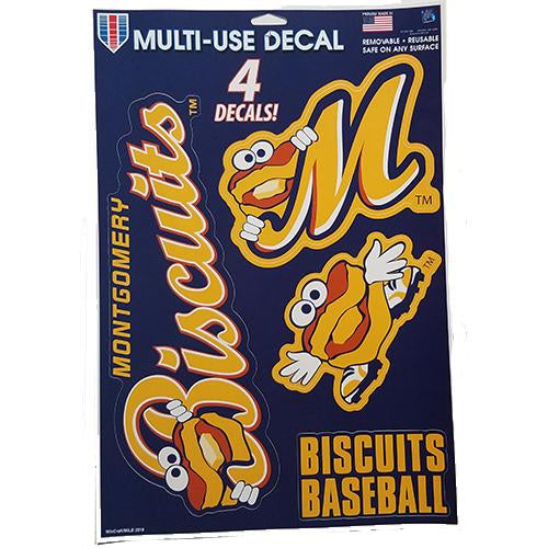 Montgomery Biscuits Large Decal Sheet