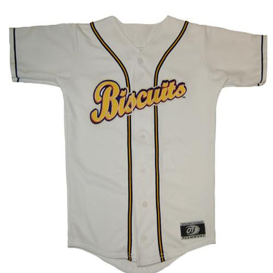 Montgomery Biscuits Kids Home Replica Jersey