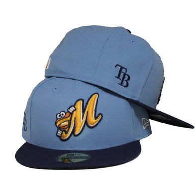 Montgomery Biscuits Official Powder Blue Affiliate Fitted Hat
