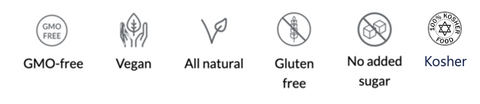 myAir product icons - Gluten Free, Vegan & Kosher
