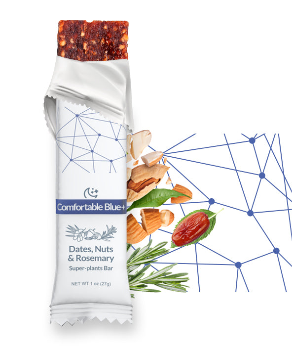 Comfortable Blue+ Dates, Nuts & Rosemary superfood bar