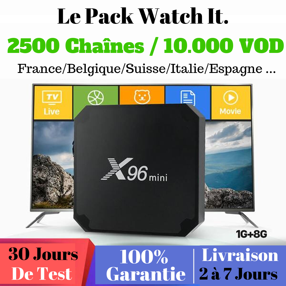 Pack Watch It - 2500 chaînes/10 000 VOD