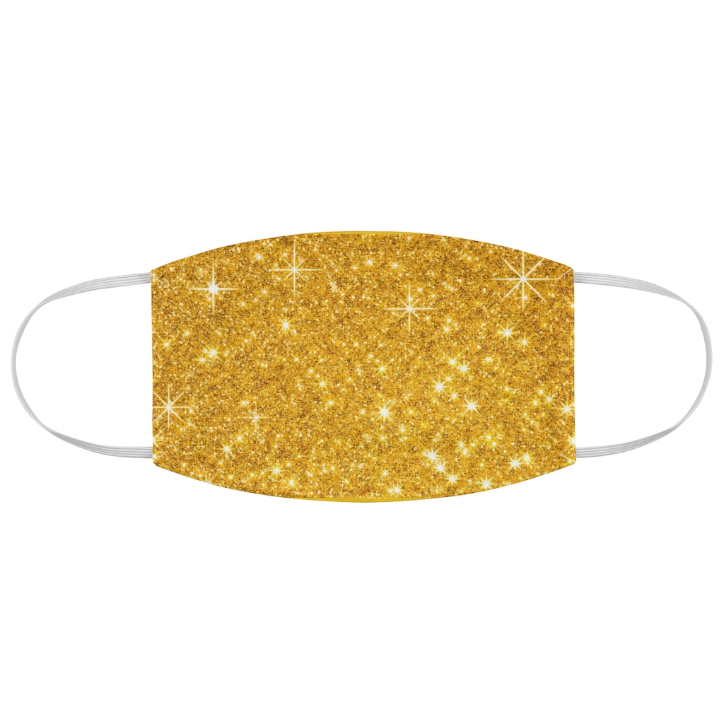 Gold Sparkly Fabric Face Mask