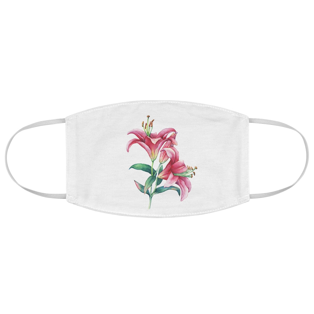 White Lily Fabric Face Mask