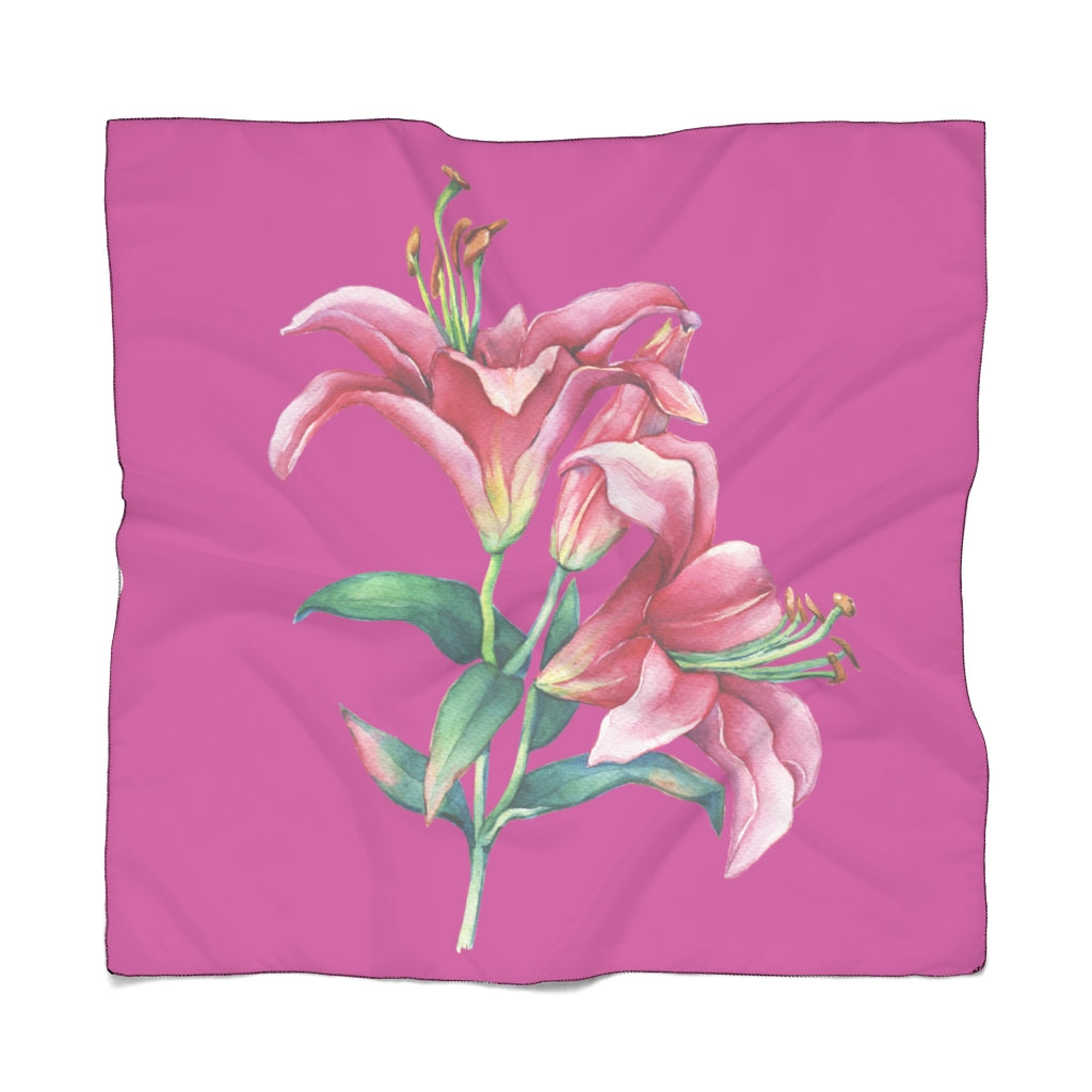 Pink Lilies Scarf