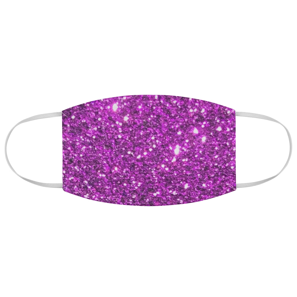 Purple Sparkly Fabric Face Mask