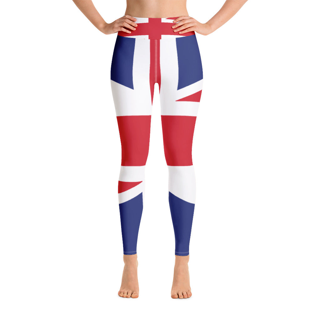 Union Jack British Flag Printed Leggings
