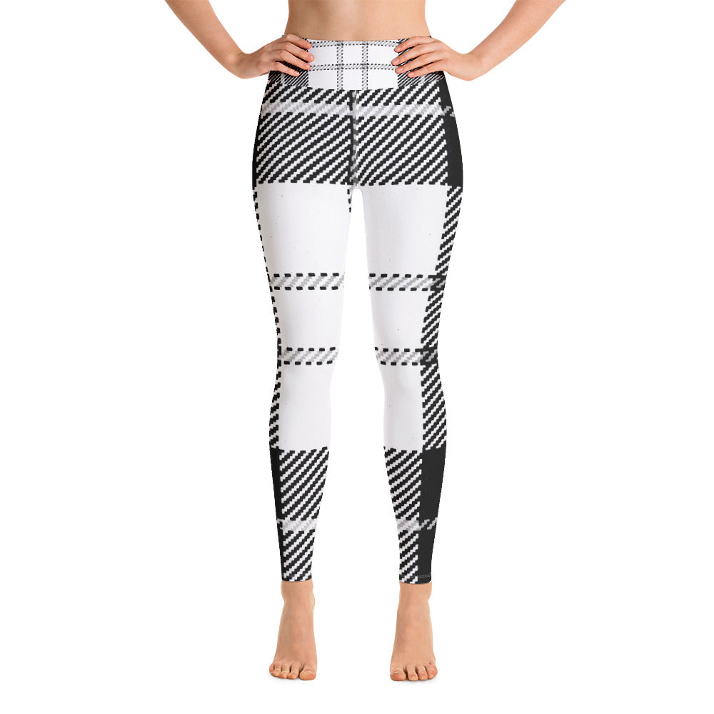 Black & White Wool Look Printed Leggings