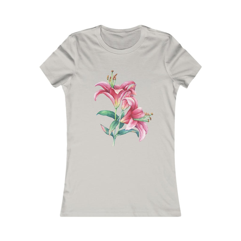 Pink Lilies Tshirt Even More Colours