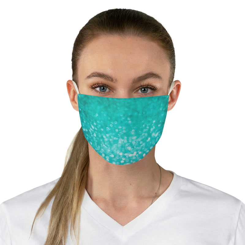 Turquoise Sparkly Fabric Face Mask