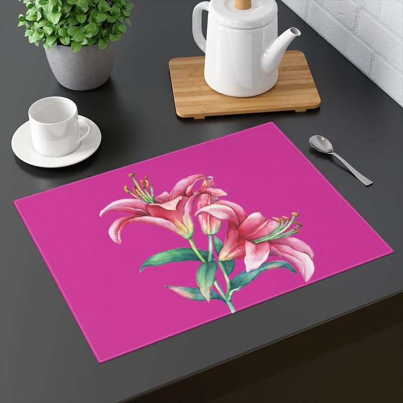 Pink Lilies Placemat