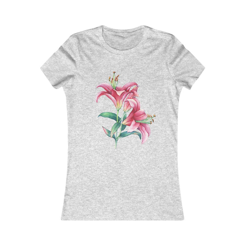 Pink Lilies Tshirt More Colours