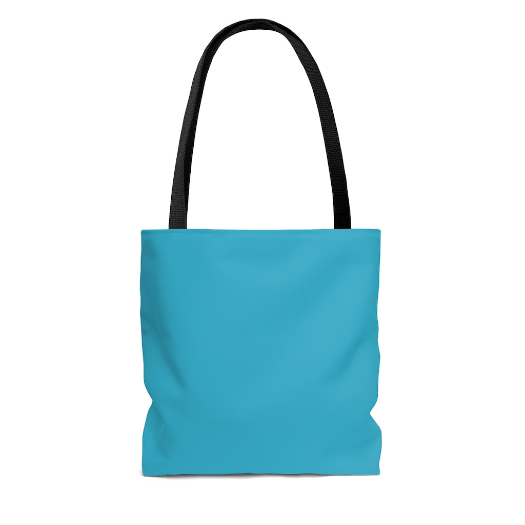 Turquoise Pink Lilies Tote Bag