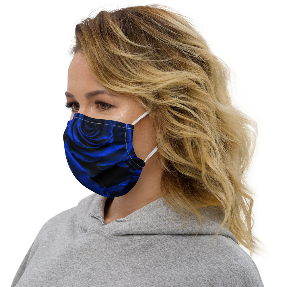 Blue Rose Face mask