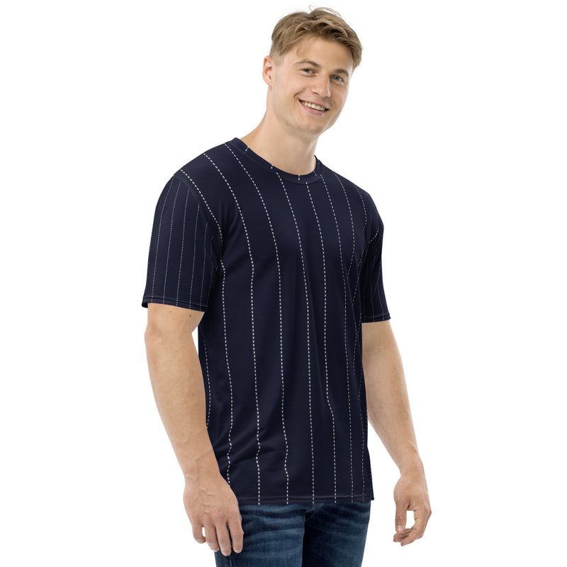 Navy Pin Stripe Men's T-shirt